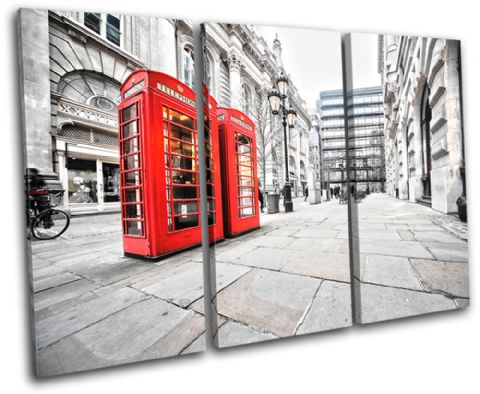 London Phonebox Red City - 13-0311(00B)-TR32-LO